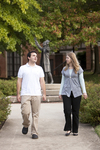 Ben Espinoza and Liz Clay Walking in Wesley Square - 2