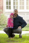 Curtis Elliott and Daughter by Estes Chapel