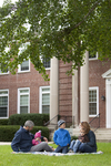 Curtis Elliott and Family in Front of the Admin Building - 2