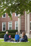 Curtis Elliott and Family in Front of the Admin Building - 7
