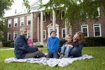 Curtis Elliott and Family in Front of the Admin Building - 9