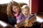 Margaret Elliott Reading to Her Daughter in the Student Center - 2