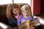 Margaret Elliott Reading to Her Daughter in the Student Center - 3