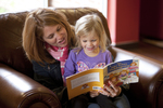 Margaret Elliott Reading to Her Daughter in the Student Center - 4