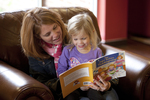 Margaret Elliott Reading to Her Daughter in the Student Center - 5