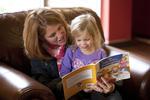 Margaret Elliott Reading to Her Daughter in the Student Center - 6
