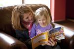 Margaret Elliott Reading to Her Daughter in the Student Center - 7