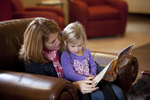 Margaret Elliott Reading to Her Daughter in the Student Center - 8