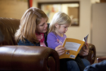 Margaret Elliott Reading to Her Daughter in the Student Center - 9