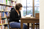 Ashleigh Hallahan Studying in the Library