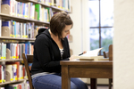 Ashleigh Hallahan Studying in the Library - 2