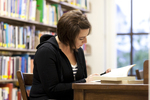 Ashleigh Hallahan Studying in the Library - 3