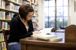 Ashleigh Hallahan Studying in the Library - 4