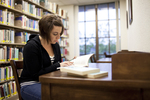 Ashleigh Hallahan Studying in the Library - 5