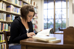 Ashleigh Hallahan Studying in the Library - 6