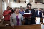 Shawnda Dykhoff and Dr. Anne Gatobu Singing in Estes Chapel - 2
