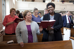 Shawnda Dykhoff and Dr. Anne Gatobu Singing in Estes Chapel - 3