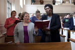 Shawnda Dykhoff and Dr. Anne Gatobu Singing in Estes Chapel - 4