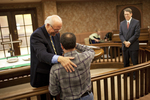 Dr. Bob Stamps Serving Matt Friedman at Daily Eucharist - 2