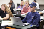 Chad Chamness Listening in Dr. Christine Pohl's Class