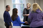 Dr. Christine Pohl Talking with Students in the Classroom - 4