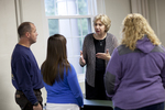 Dr. Christine Pohl Talking with Students in the Classroom - 5
