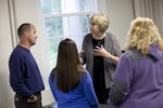Dr. Christine Pohl Talking with Students in the Classroom - 9
