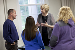Dr. Christine Pohl Talking with Students in the Classroom - 10