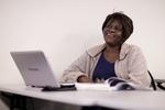 Irene Kabete Listening in Dr. Steve Ybarrola's Class