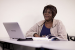 Irene Kabete Listening in Dr. Steve Ybarrola's Class - 3