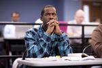 Namarr Newson Listening in Dr. Steve Ybarrola's Class