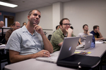 David Hull and Kaury Edwards Listening in Dr. Steve Ybarrola's Class - 2
