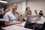 David Hull and Kaury Edwards Listening in Dr. Steve Ybarrola's Class - 3
