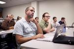 David Hull and Kaury Edwards Listening in Dr. Steve Ybarrola's Class - 6