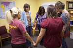 Carolyn Moore Praying with a Group - 6