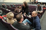 Rosario Picardo Talking with Church Attendees - 2