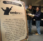 Embrace Church Welcome Sign
