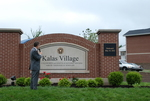 Dr. Tim Tennent Unveiling the Kalas Village Entrance Sign - 2