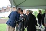 Dan Johnson and Bill Latimer at the Kalas Village Dedication