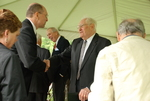 Jim Smith and Dr. Ellsworth Kalas at the Kalas Village Dedication