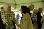 Joan Krupa and Kristen Schrickel at the Kalas Village Dedication