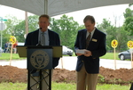Lanny Spears and Dan Johnson at the Gallaway Village Groundbreaking