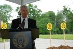 Bill Latimer Speaking at the Gallaway Village Groundbreaking - 8