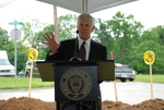 Bill Latimer Speaking at the Gallaway Village Groundbreaking - 13