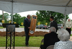 Dr. Tim Tennent Receiving a Gift at the Gallaway Village Dedication