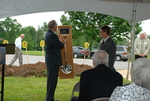 Dr. Tim Tennent Receiving a Gift at the Gallaway Village Dedication - 2