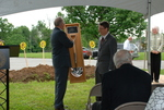 Dr. Tim Tennent Receiving a Gift at the Gallaway Village Dedication - 4