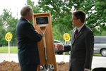 Dr. Tim Tennent Receiving a Gift at the Gallaway Village Dedication - 5