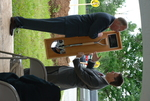 Dr. Tim Tennent Receiving a Gift at the Gallaway Village Dedication - 9
