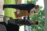 Dr. Tim Tennent Receiving a Gift at the Gallaway Village Dedication - 10